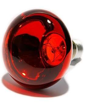 Ampoule à incandescence E27 60 W rouge forme de champignon 1 pc(s)
