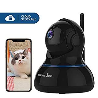wansview IP Camera, 1080P Wireless Home Security Camera With Motion Detection, Night Vision,Two Way Audio and Pan/Tilt for Baby/Elder/Pet/Nanny Monitor Q3S (Black)