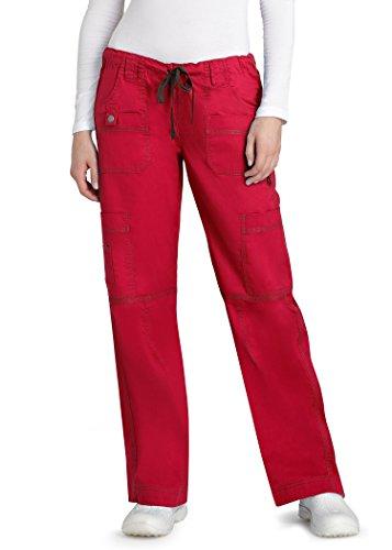 adar-pop-stretch-junior-fit-low-rise-multi-pocket-straight-leg-pants-3100-cardinal-xxs