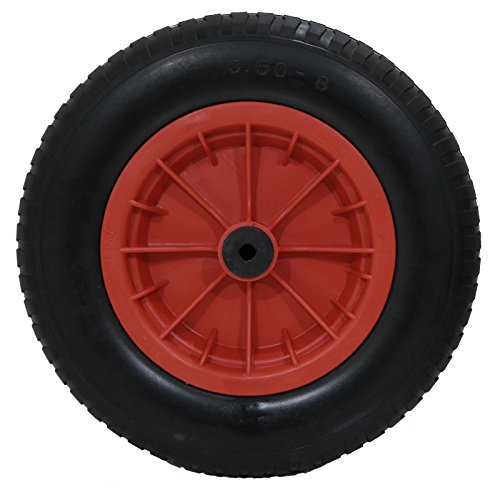 Garden mile® New 14″ Red PU Puncture Proof Wheelbarrow Wheel Tyre Solid Lightweight Foam 3.50 – 8 NOT FOR HIGHWAY USE