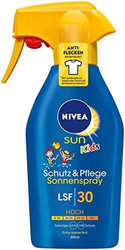 NIVEA SUN Sonnenspray mit verbesserter Formel für Kinder, Lichtschutzfaktor 30, 300 ml Sprühflasche, Kids Schutz & Pflege