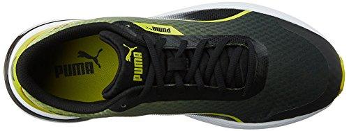 SCARPE PUMA T 74 TECH 359121 01 RUNNING UOMO ULTRALIGHT YELLOW BLACK Black-Yellow