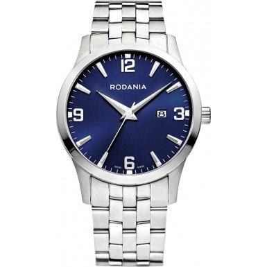 Rodania Swiss Herren-Armbanduhr Sport 100 Analog edelstahl Silber RS2506549