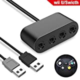 Gamecube Controller Adapter f�r Nintend Switch Wii U, Gamecube Adapter f�r Super Smash Mros, USB Plug & Play 4 Ports Anschluss Bild