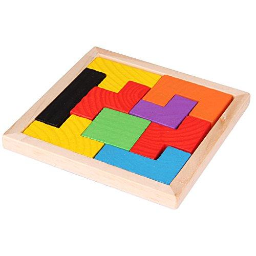 n Bau Bunte Holz Brain Teaser Jigsaw Puzzle Tetris Toys wie Geschenke für Kinder (Brain Teaser Für Kinder)