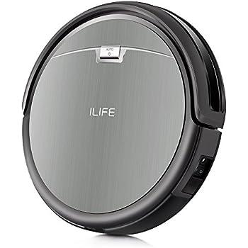 ILIFE A4S Robot Aspirapolvere ,Molteplici Modalità di pulizia,Auto-ricarica Sensori Anti-Caduta ,Adatto a Pavimenti e Tappeti