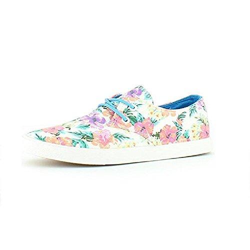 Heavenly Feet  Heavenly Feet Alexa White Floral Shoes, Baskets mode pour femme blanc floral
