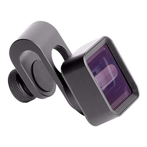 Handys Breitbildobjektiv Photo Telescope Clip 1.33X Deformations-Breitbild-Objektiv Smartphones Handys Objektiv Kamera für iPhone für Android Weitwinkel-Telephoto-Makro (Black) 1.33
