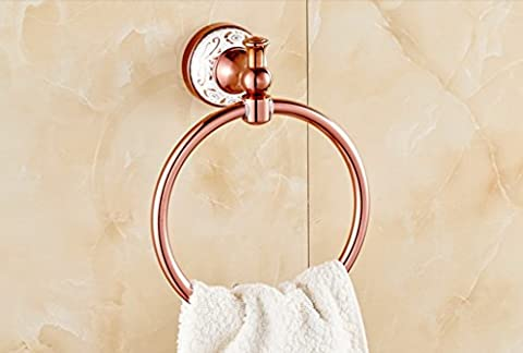 PIGE European - Style Towel Ring All Copper Bold Ring Rose Gold Small Towel Ring Round Towel Ring