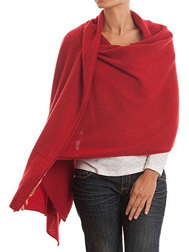 DALLE PIANE CASHMERE - Stola aus 100% Kaschmir - für Frau, Farbe: Rot, Einheitsgröße