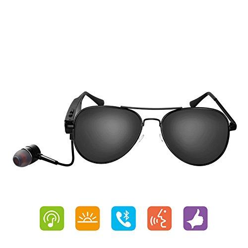 GWJ Drahtlose Bluetooth Headset Sonnenbrille, Mobile Freisprechanlage Stereo, Musik Sonnenbrille, Android, IOS Smartphones.