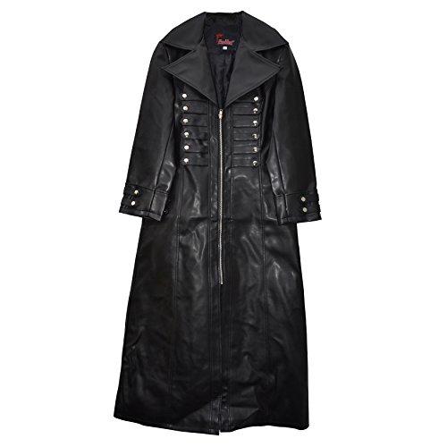 El celibato chaqueta 32017814.008M Hombres gótica de Steampunk con la cremallera y la longitud de la correa de becerro Gr. M, negro