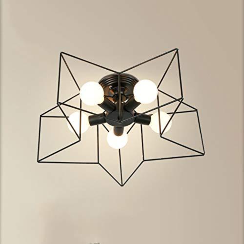 Kreative Deckenleuchte JIAQI Sleek Minimalist Fünfzackige Stern-Deckenleuchte Wohnzimmer/Schlafzimmer/Arbeitszimmer/Flur Schmiedeeisenlampe (Energiestufe A +) Deckenleuchte