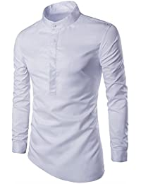 WSLCN Homme Chemise Manche longue Col Mao