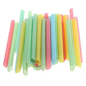 Big Bargain 45 PCS Large Long 6 inch Drinking Straws Cola Milk Shakes Tea Cocktail Smoothie by Big Bargain Store