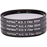 SHOPEE Numex 62MM ND2 ND4 ND8 ND16 ND FILTER KIT 4 TAMRON NIKON CANON SIGMA LENS THREAD(62MM)