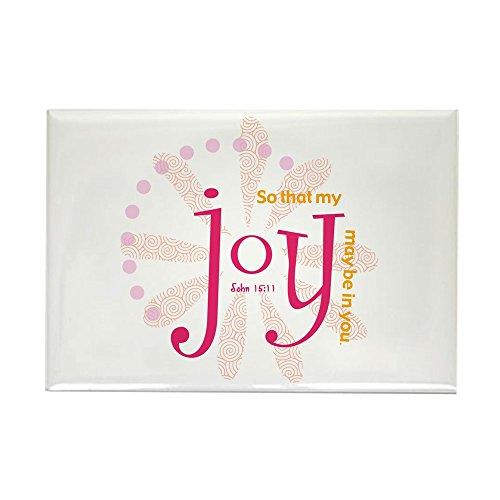 CafePress–Joy–Rechteck Magnet, 5,1x 7,6cm Kühlschrank Magnet (Kirche T-shirt Rosa)