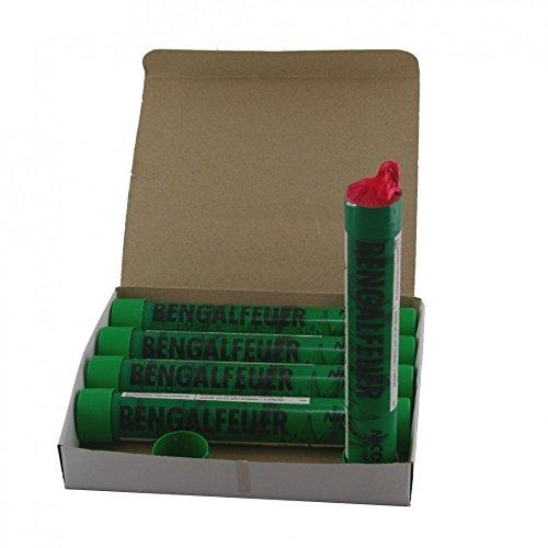 5 Bengalfackeln mit jeweils 40 Sekunden Brenndauer in verschiedenen Farben (Grün)