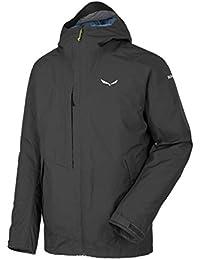 SALEWA Fanes 2GTX 2L M JKT, chaqueta para senderismo, trekking y de viaje Hombre, Hombre, Fanes 2 Gtx 2L M Jkt, negro, 48/Medium