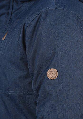 SOLID Bello Long Herren Winterjacke Lang Parka mit Kapuze aus hochwertigem Material Insignia Blue (1991)