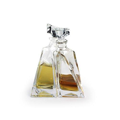 A.P. Donovan - garrafas de whisky / decantadores en conjunto - para servir whisky, coñac, vino, licor, 2 botellas de vidrio - 660 ml - gemelos