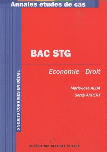 Bac STG Economie-Droit