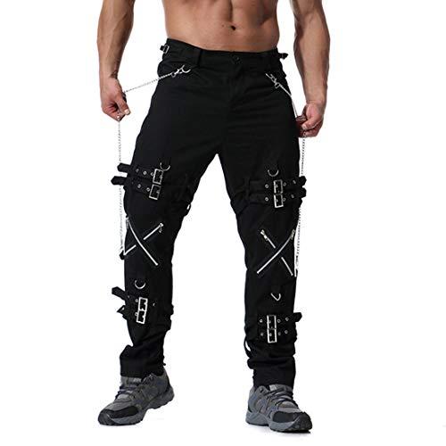 pantalones vaqueros hombre baratos,jeans ropa gótica hombre...