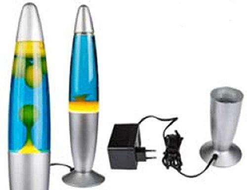 Motion Rocket lámpara lámpara de lava amarillo/azul