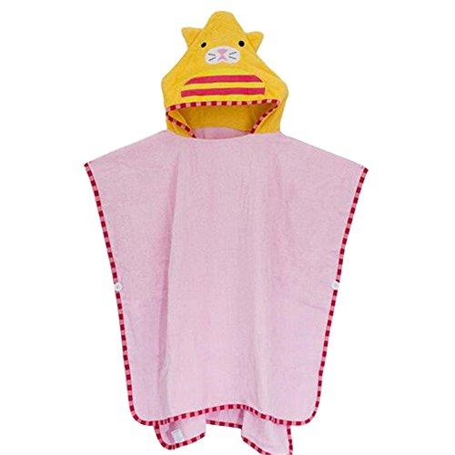 artoon Tierförmige Kinder Kapuzen-Baumwoll-Bad-Decke Kapuzen-Mantel Handtuch Kinder Bad Handtuch (Niedliche Decke)