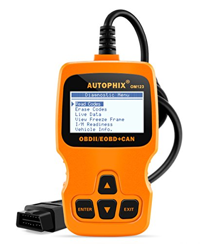 Check-engine Code Reader Licht (OM123 Obd2 Auto Diagnosegerät Scanner Obdii Fahrzeug Code Reader Checking Engine Light Clear Fault Codes with Mult-language (Englisch, Französisch, Deutsch, Spanisch, Niederländisch, Polnisch) Compliant All after 1996 Obd-ii EOBD Benzin Autos)