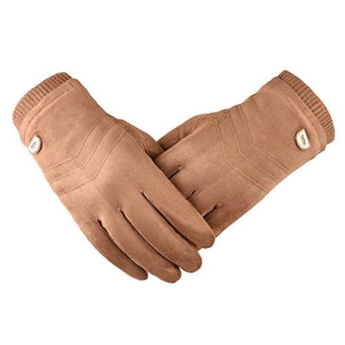 AmDxD Damen Winterhandschuhe Sports Radfahren Jagd Sporthandschuhe mit Touchscreen Funktion Gelb Handschuhe