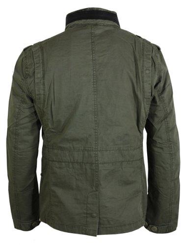 Brandit Herren Jacke Britannia Grün (Oliv 1)