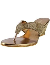 Mochi Women's Antic Gold Fashion Sandals-7 UK (40 EU) (35-2045)