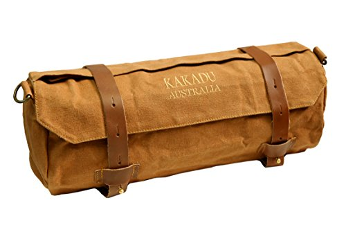 Kakadu Motorcyle chaqueta bolsa hecha de drywax lienzo, hombre, Tobacco, talla única
