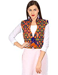Vastraa Fusion Women's Cotton Ethnic Jacket