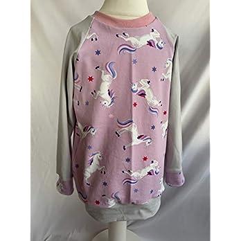 Pullover Einhorn auf rosa 110/116