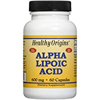Healthy Origins, , Acido Alfa Lipoico, 600 mg, 60 capsule