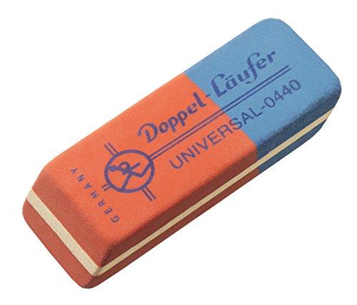 Läufer 00440 Doppel-Läufer Universal 0440 Radierer, Radiergummi aus Kautschuk, der rot-blaue...