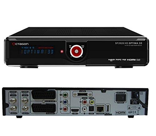Octagon SF 2028 HD Optima 3D Full HD Twin Sat Receiver, schwarz