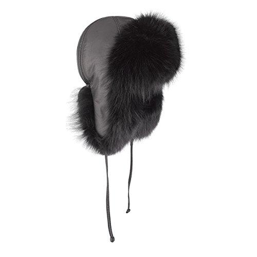 Brekka Damen Mütze Siberia Russia, Black, 56, BRF14F707_BLK