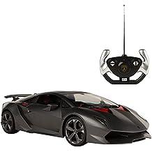 Rastar - Lamborghini Sesto Elemento, coche teledirigida, escala 1:14, color gris (ColorBaby 41116)