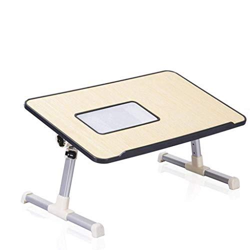 YS-FeiTeng Klapptisch - fauler Schreibtisch, kleine verstellbare Höhe und niedrige Winkelhöhe zum Anheben des multifunktionalen Bettklappschlafsaals mit Computerkippfunktion - Kleiner Klapptisch Verstellbar