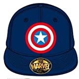 Captain America - Logo einstellbarer Cap Snap-Back Baseball Kappe Mütze Hut Original & Lizensiert