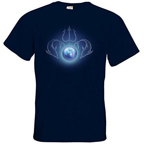 getshirts - Das Schwarze Auge - T-Shirt - Die Siebenwindküste - Götter und Dämonen - Efferdperle Navy