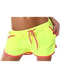 Veryzen femme Shorts Pantalons Panty Rétro Sport Drawstring Pants