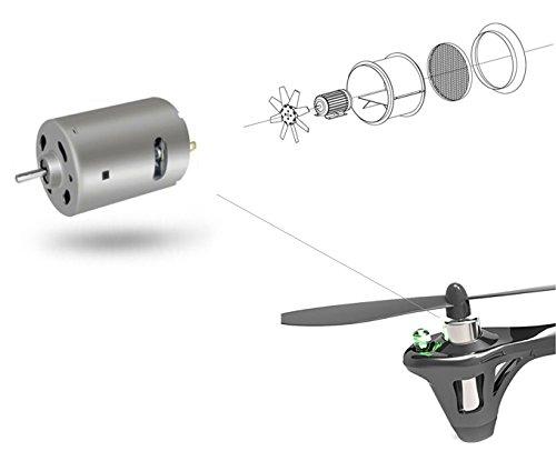 DeeRC 4 Stücke ursprüngliche echte Motoren RC Ersatzteile für Mini Drohne Quadrocopter Hubsan X4 H107 H107L HS170 (7mm x20mm) - 2