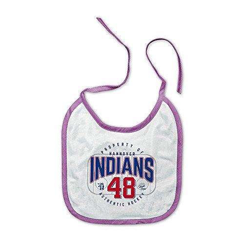 """Hannover Indians """"Indians 48"""" Babylätzchen, Weiß/Rosa"""