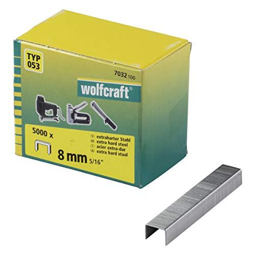 Wolfcraft 7032100 5000 Agrafes Larges 8 Mm  Type 053 Acier...