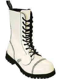 48b87b692b2893 Boots   Braces Stiefel 10-Loch Rangers White
