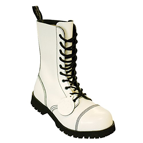 Boots & Braces Stiefel 10-Loch Rangers White 10 Loch Hot Colour White